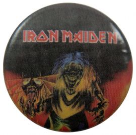 Iron Maiden - 'Beast Close Up' Button Badge
